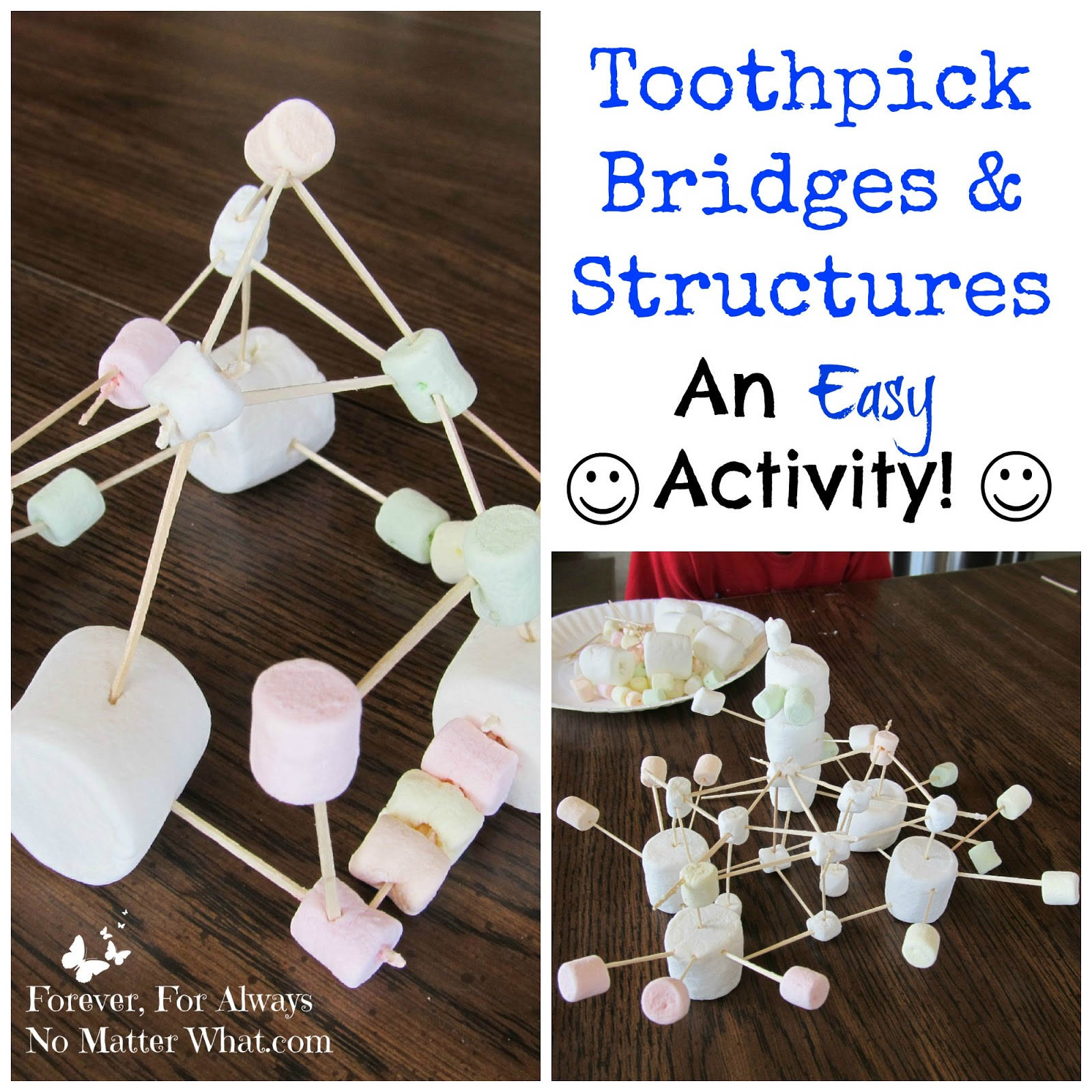 Toothpick Bridges Structures An Easy Activity Forever For