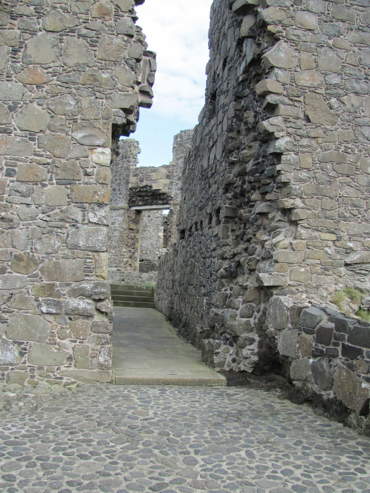 Intact Floor and Hallway in Dunluce Castle