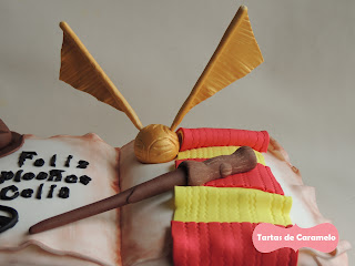 Tarta de Harry Potter: snitch dorado