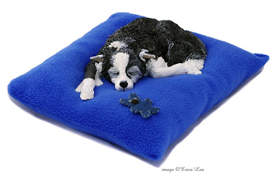 border collie dog sculpture