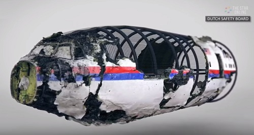 Reconstruction of MH17 wreckage