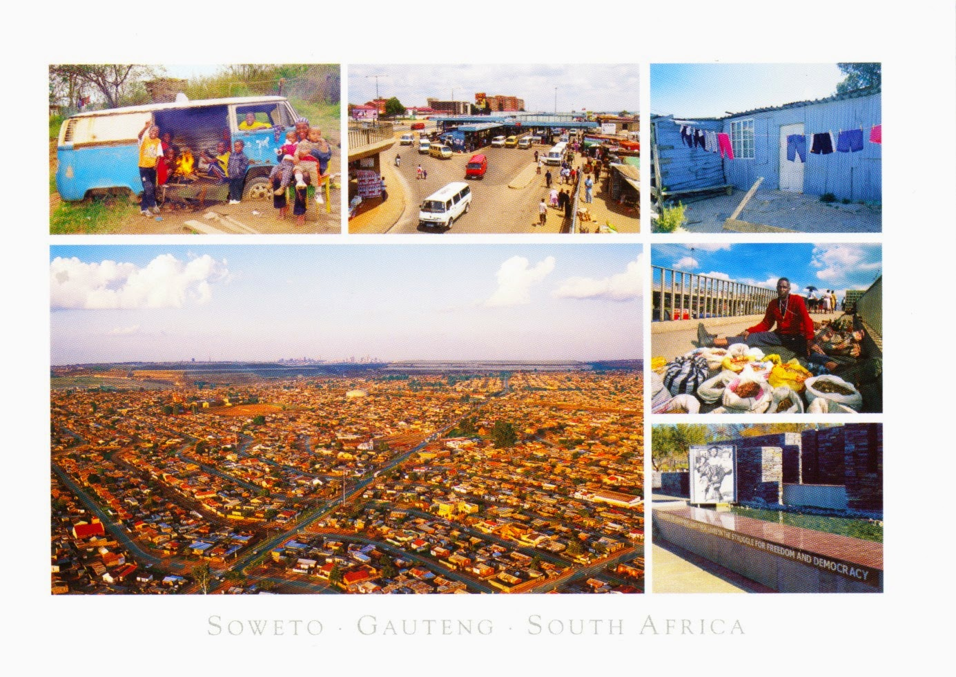 postcard, south africa, township, johannesburg