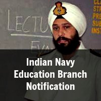 Indian Navy Armament Inspection Cadre and Education Branch Notification