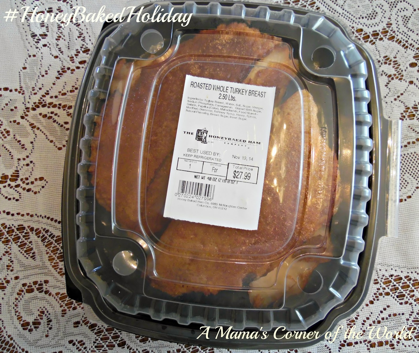 A Honeybakedholiday Dinner For Thanksgiving A Giveaway A Mamas