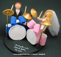 drummer wedding cake topper