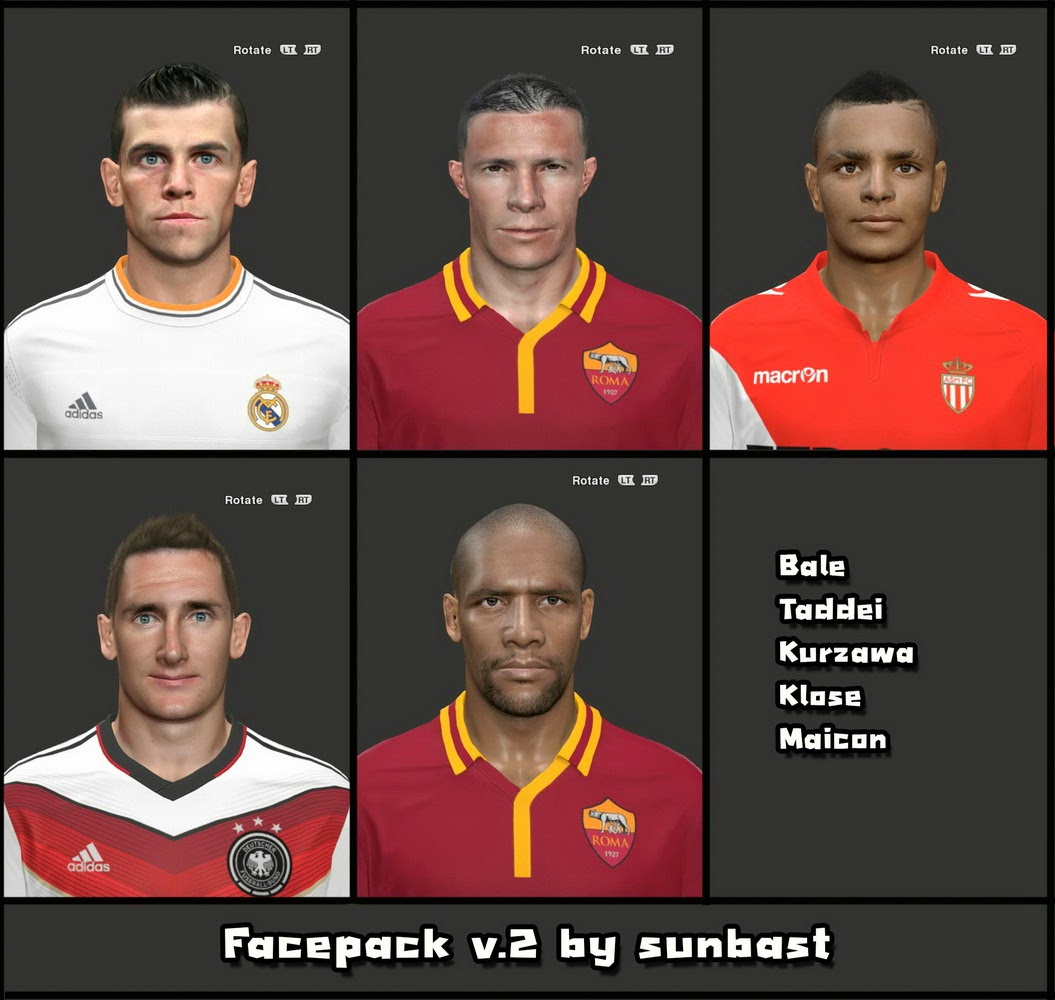 PES 2014 FACEPACK V.2 by sunbast