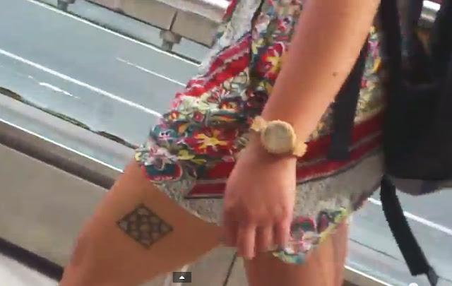 Paisaje humano, tatuaje,baldosa de Bilbao,#vídeo