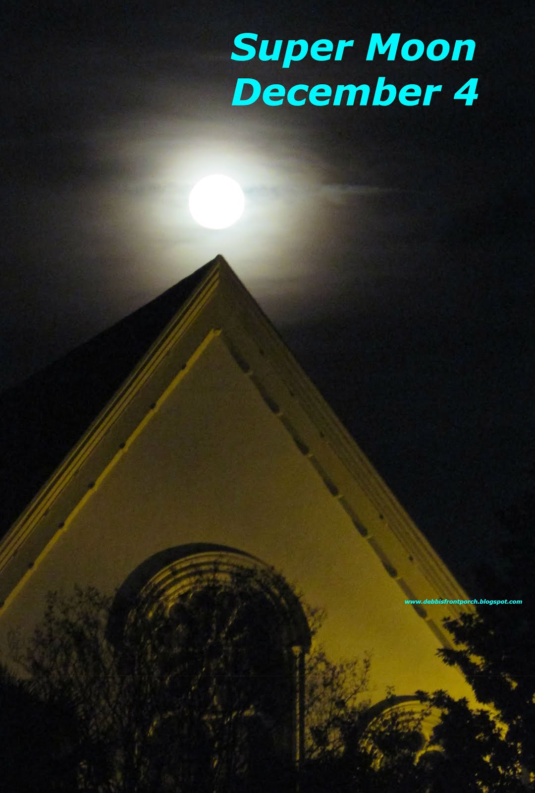the moon over Citadel Square Church