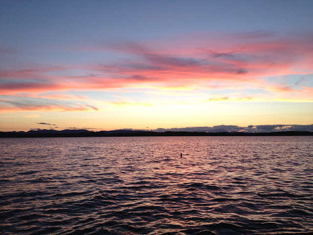 Lake Champlain sunset © 2012 Sylvia Liu
