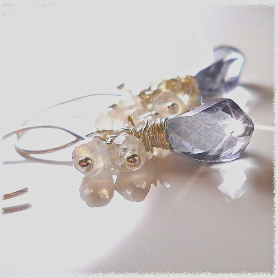 wirewrapped gemstone earrings your daily jewels etsy