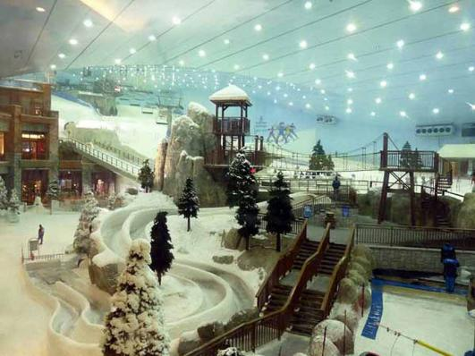 ski slopes at Ski Dubai in Mall of the Emirates