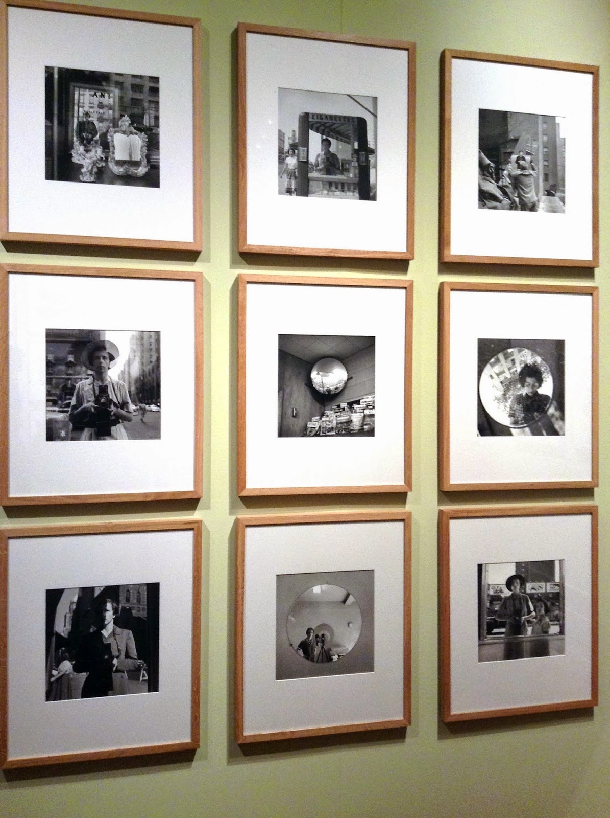 9 self portraits of Vivian Maier