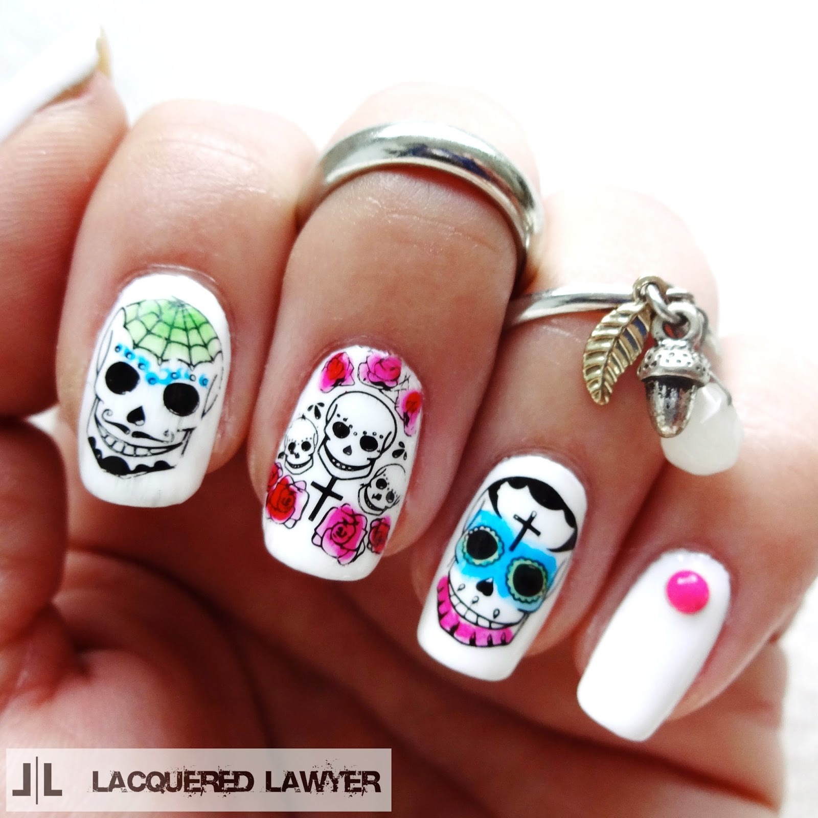 Lacquered Lawyer | Nail Art Blog: Dia De Los Muertos