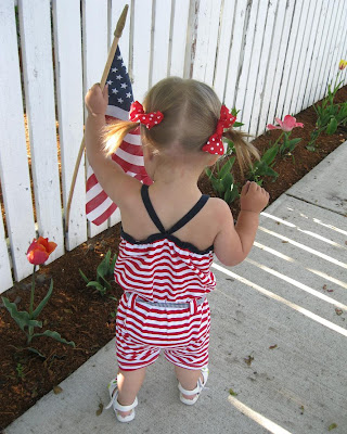 Fourth of July Romper on a Girl