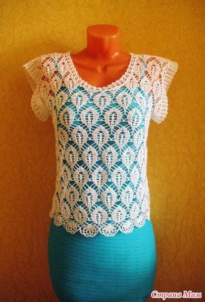 Blusa de dama crochet con bello punto
