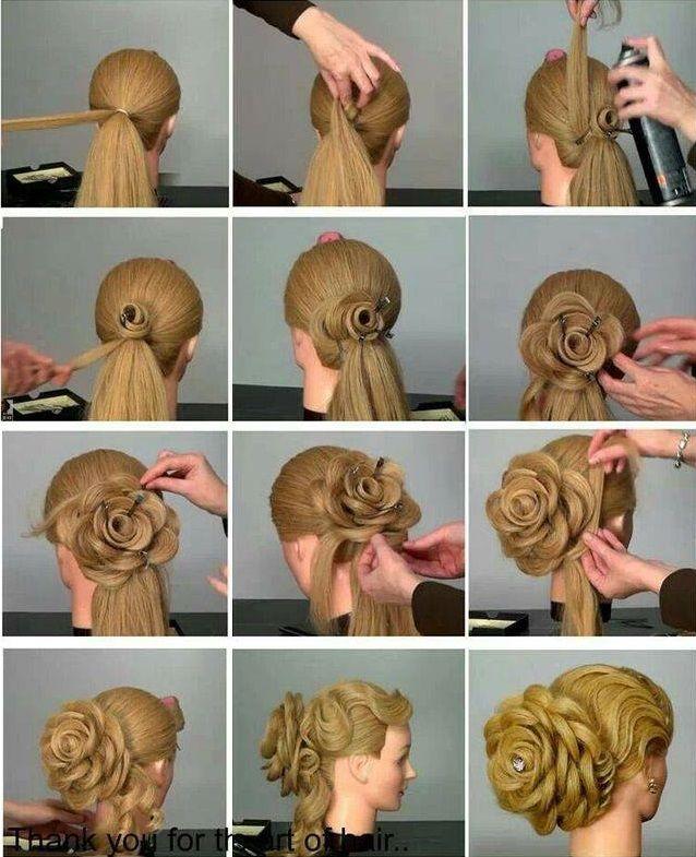 Beautiful Roses on hair! Photo gallery & Video tutorials!