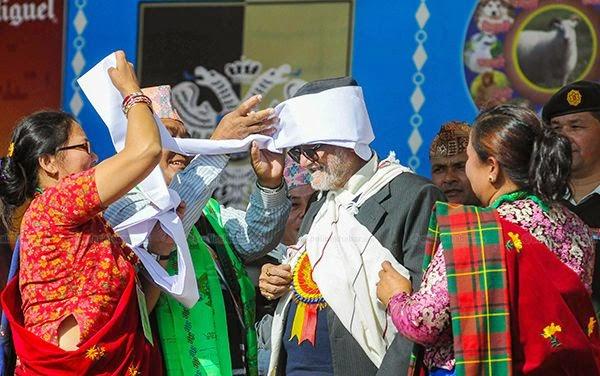 nepal prime minister at tamu gurung lhosar