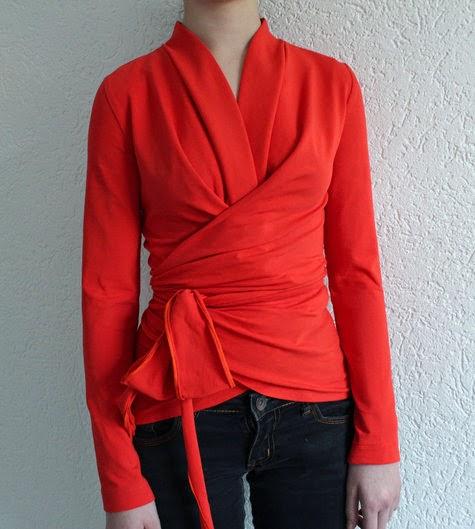 yo elijo coser: Patrón gratis: blusa envolvente de Burda (2 versiones)