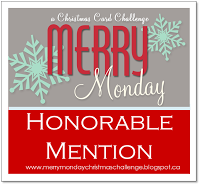 I was an Honorable Mention on Merry Monday!