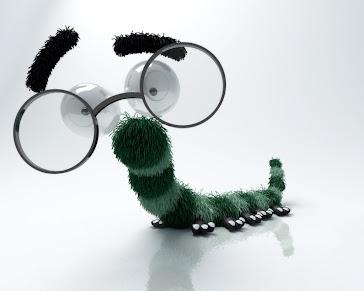 Lagarta dos oculos-inators