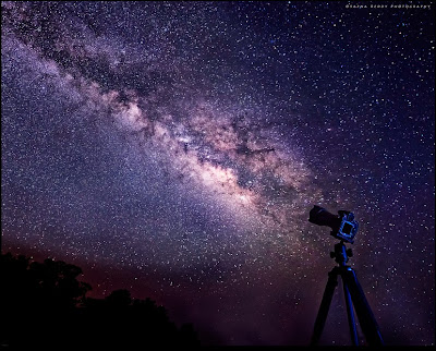 how are pictures of the milky way taken