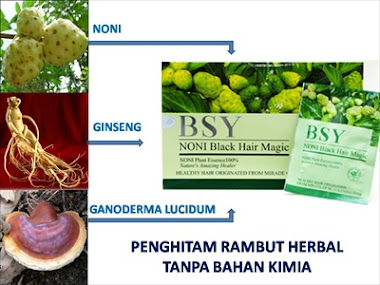 BSY Noni Black Hair Magic Super Murah isi 20 sachet