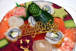 お誕生日寿司ケーキ