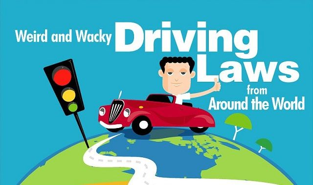 Image: Weird and Wacky Driving Laws from Around the World. #infographic