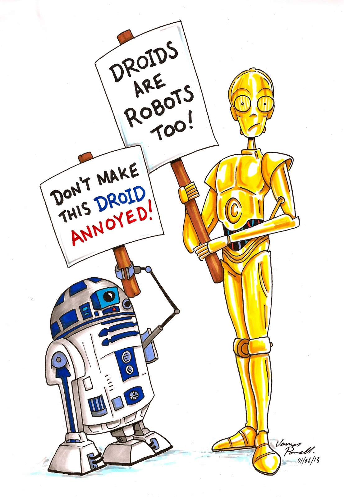 Art stuff by James P Powell: DROIDS are ROBOTS too!