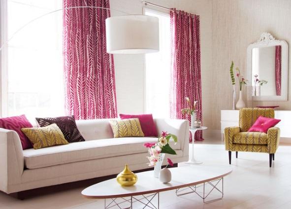 Los almohadones decorar el ambiente