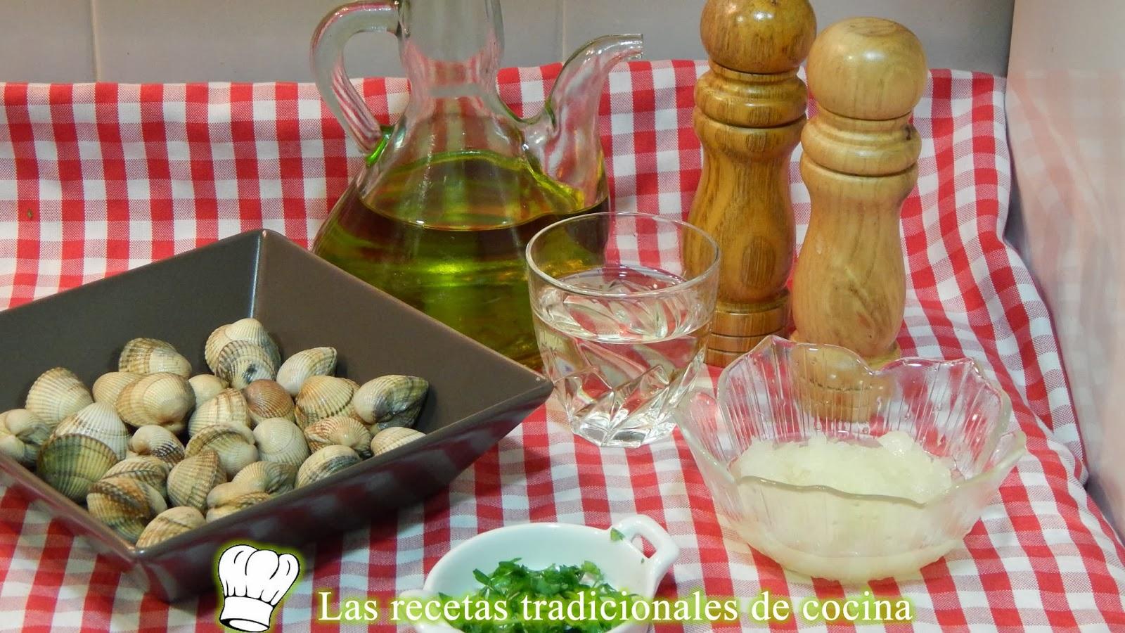 Receta de berberechos al vino blanco
