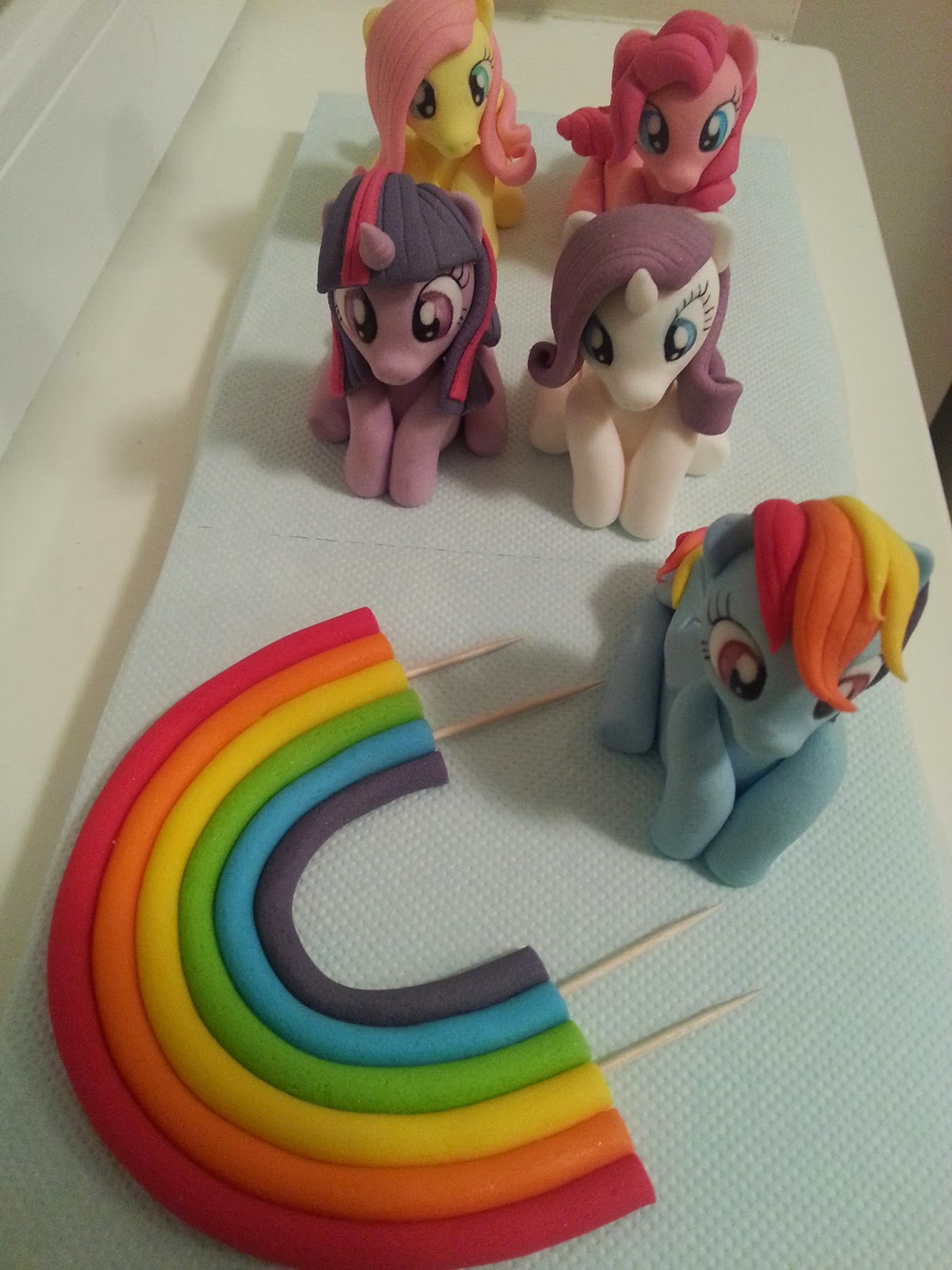 how to make my little pony fondant figures