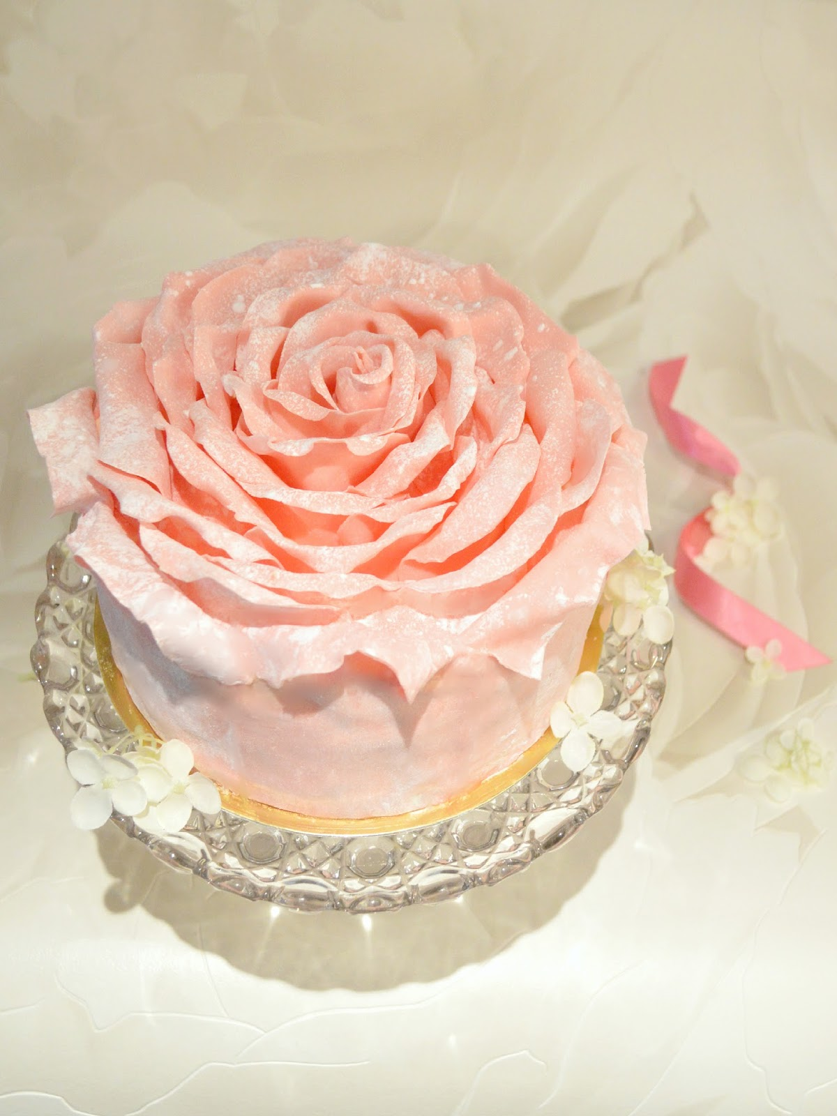 Cherie Kelly's Strawberry Chocolate Rose Petal Cake