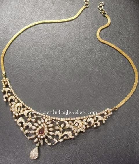 Classic Simple Indian Diamond Necklace
