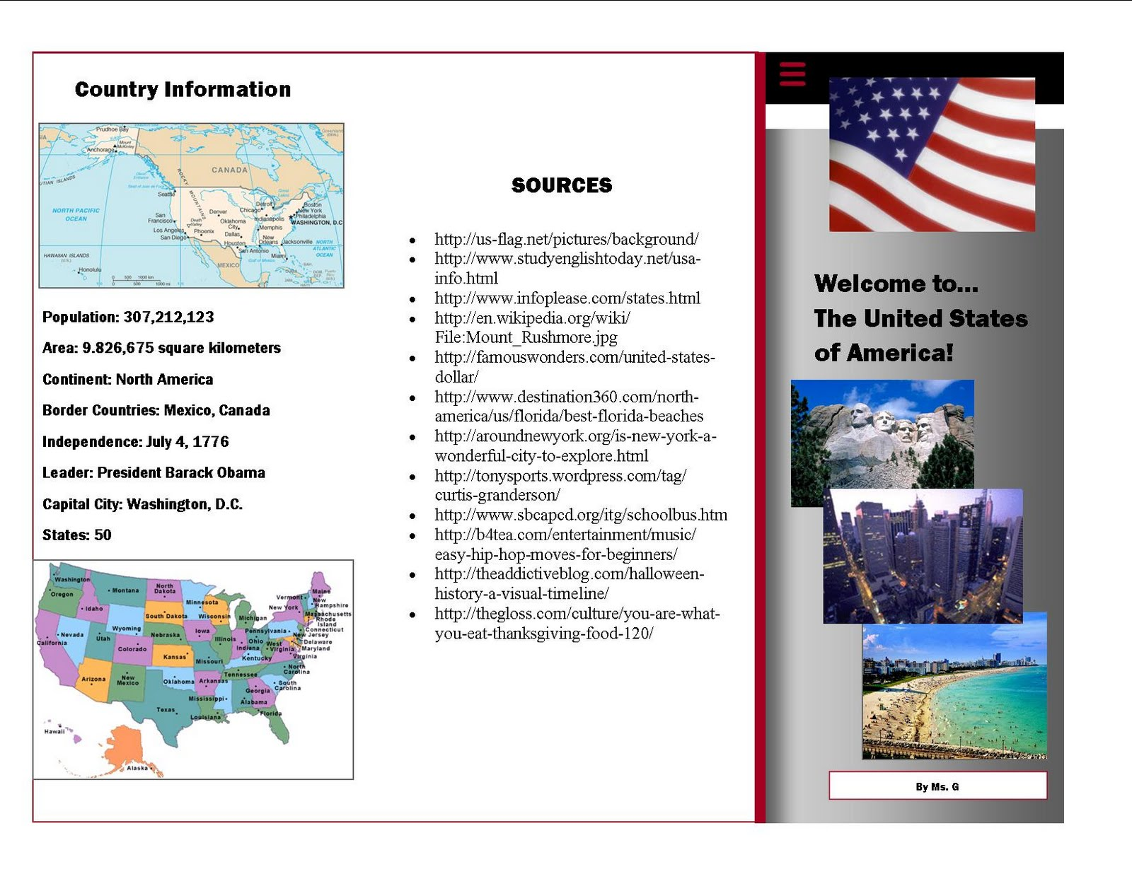Make a brochure in ms publisher for Country brochure template