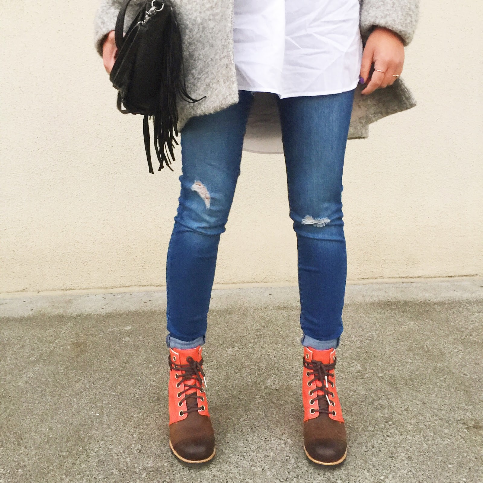 sorel style, sorel boots, columbia, wedged booties, casual look, portland fashion blogger, ootd, fblogger, the p town girls