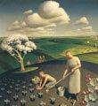 Grant Wood (39) - Primavera en el campo (1930)