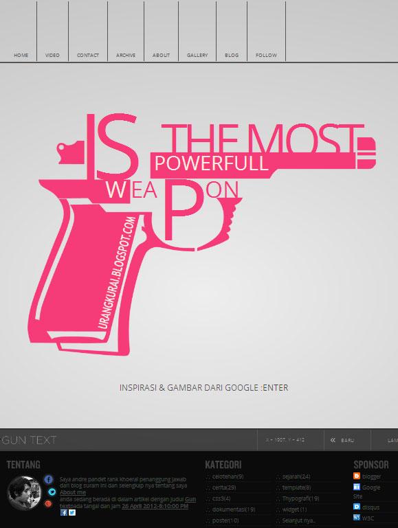 Gun text