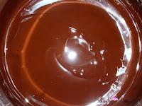Chocolate y mantequilla derretidos
