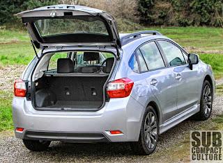 2012 Subaru Impreza 2.0i Sport Premium cargo area