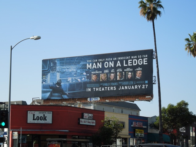 Man on a Ledge billboard