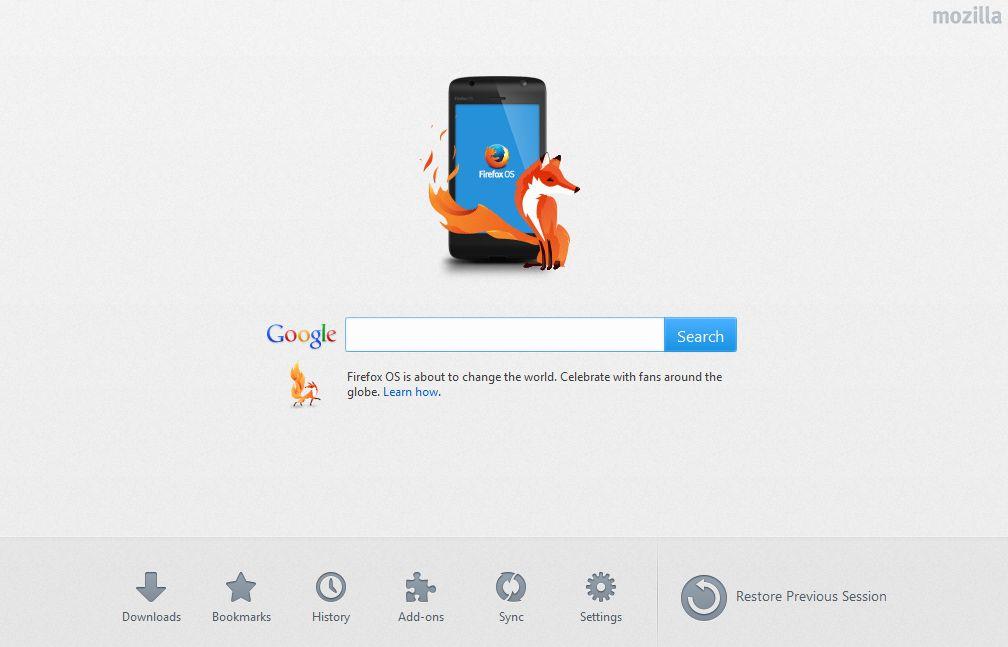 how to change new tab homepage firefox