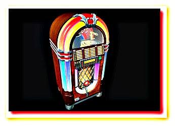 Ilustração de uma jukebox vintage
