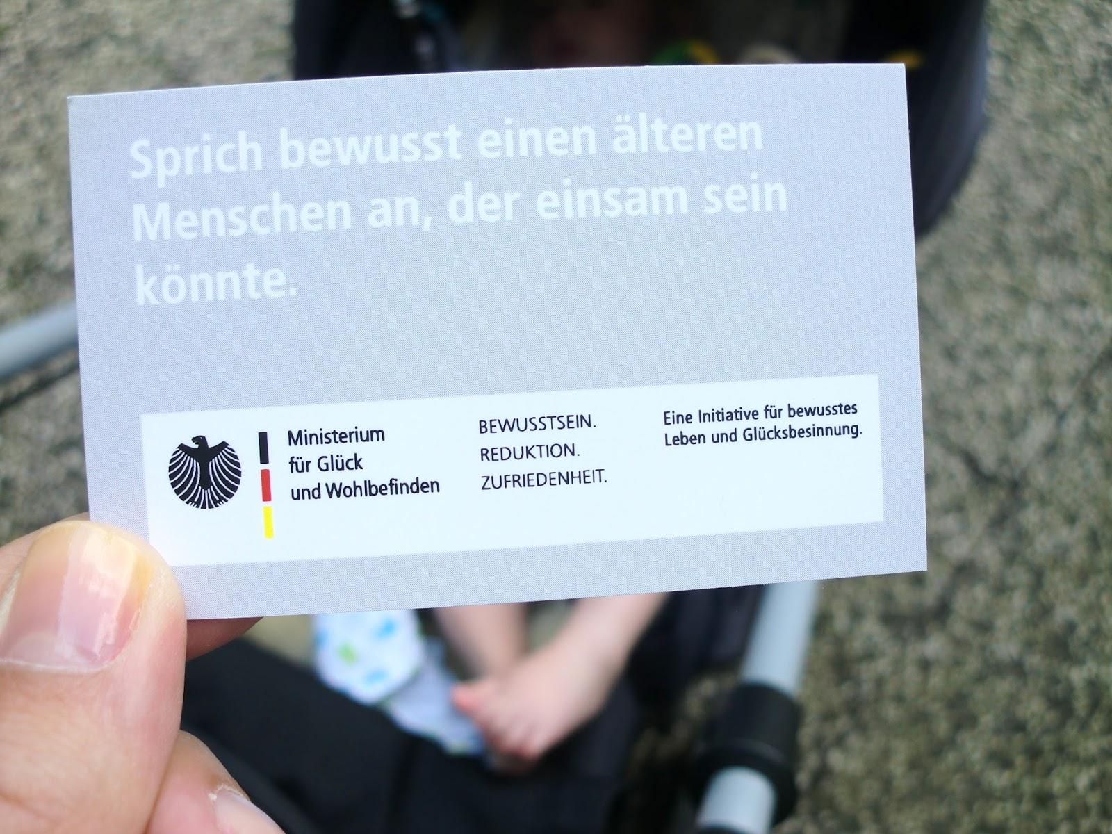 Aufgabenkarte Ministerium fuer Glueck