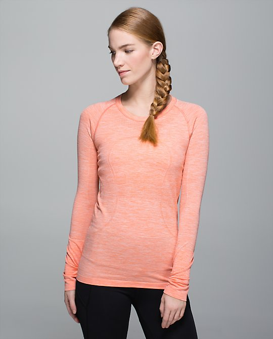 lululemon plum peach swiftly ls