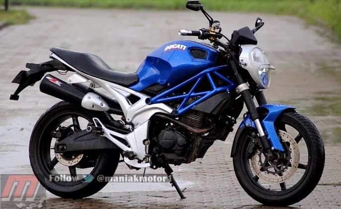 Foto Modif Honda Tiger Revo ala Ducati Monster Terkeren 2014