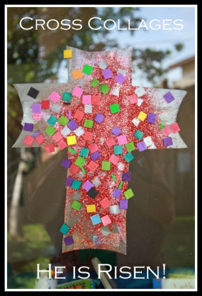 Cross collages easter craft for kids learn play imagine for Cross craft for kids