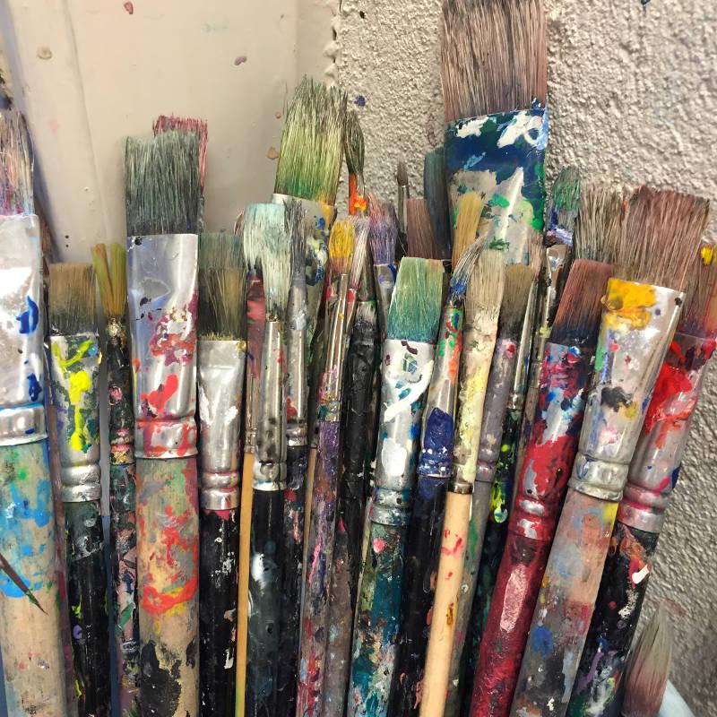 rengöring av penslar