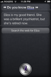 Siri: Do you know Eliza?
