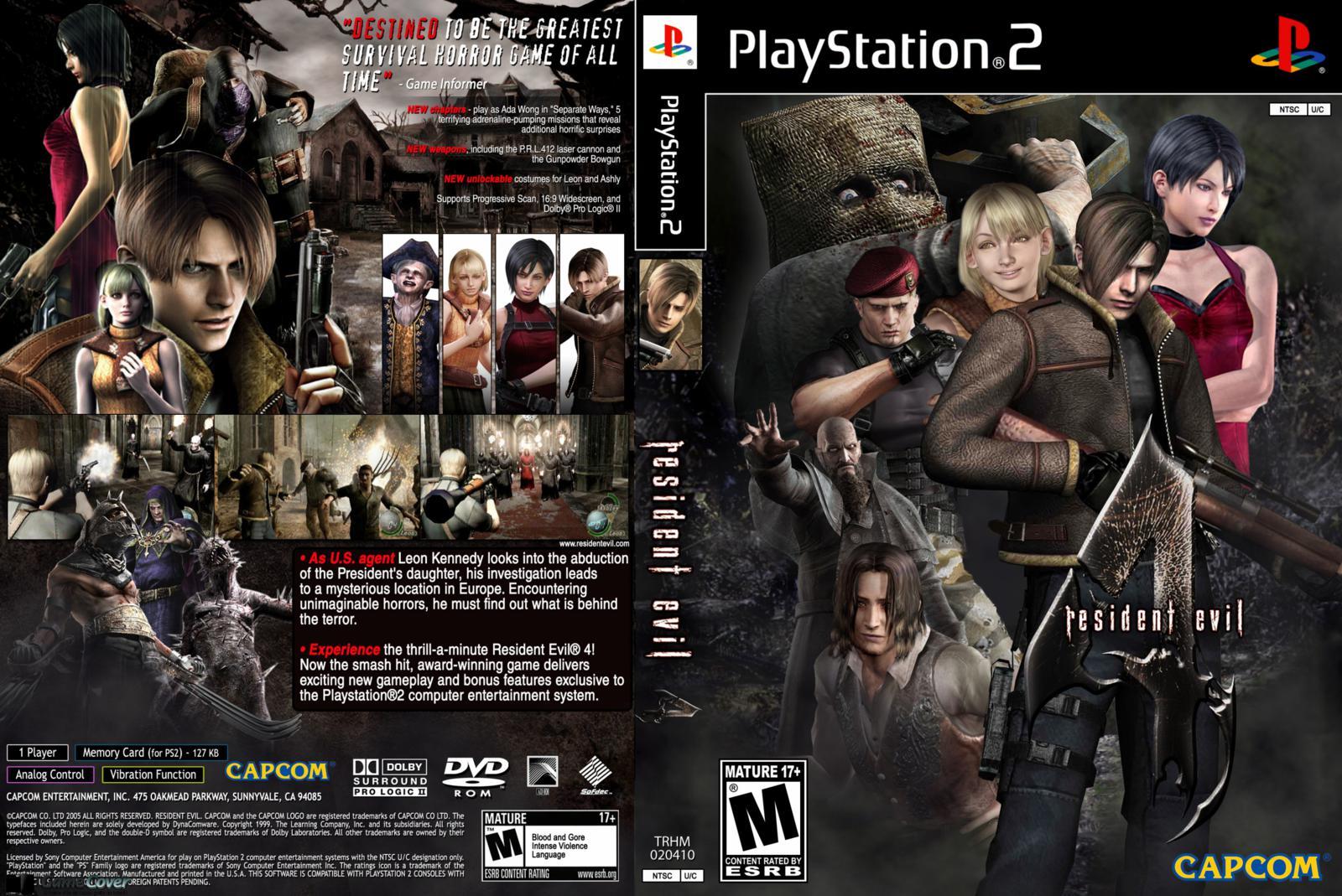 Capa Resident Evil 4 PS2